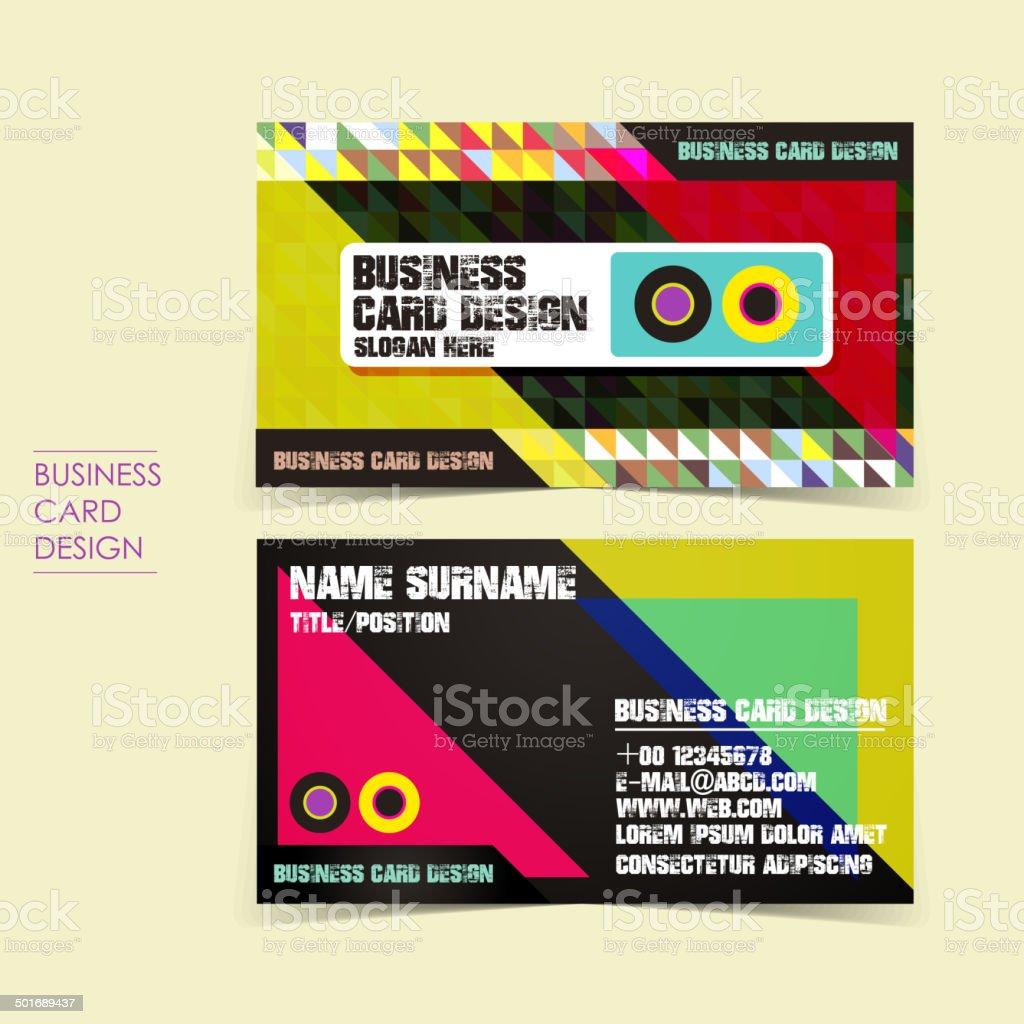 pixel background vector business card set vector art illustration