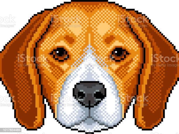 Chien Fait Face Icônes Pixel Art Telecharger Vectoriel