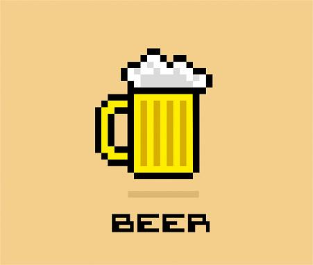 Pixel Beer stock illustration