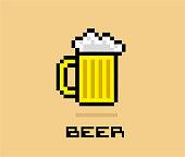 istock Pixel Beer stock illustration 1214527410
