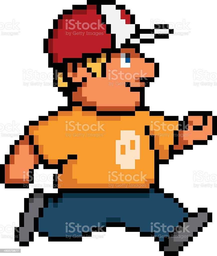 Pixel character vector art illustration