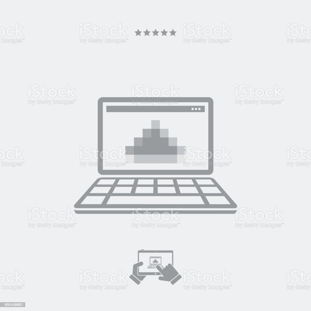 Pixel Data And Monitor Resolution Of A Laptop Stock