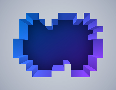 Pixel Depth 3D Abstract Background