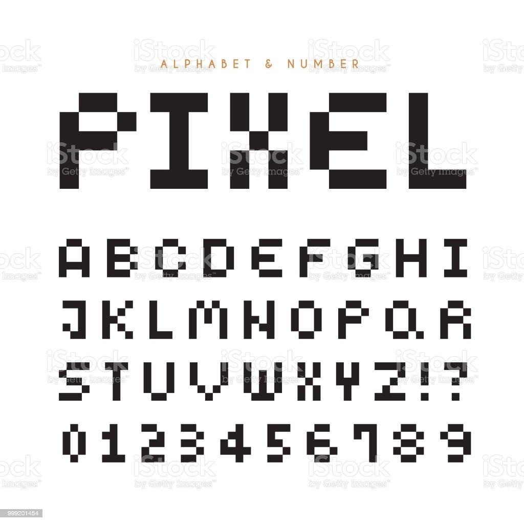 Pixel Font Stock Illustration