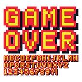 Typescript, Video Game, Bit - Binary, Pixelated, Alphabet
