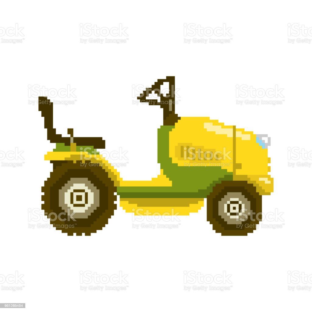 illustration vectorielle de pixel tracteur de jardin cliparts vectoriels et plus d 39 images de. Black Bedroom Furniture Sets. Home Design Ideas