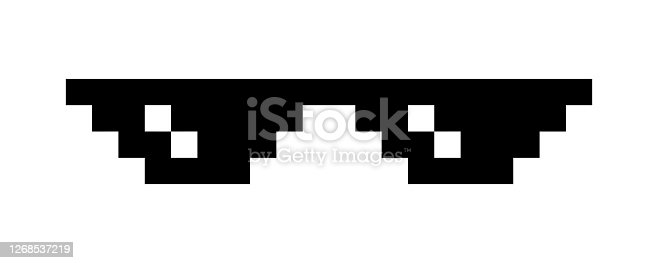 istock Pixel glasses isolated on white 1268537219