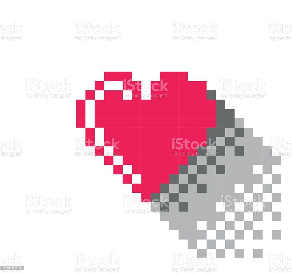 Pixel Heart Stock Illustration Download Image Now Istock