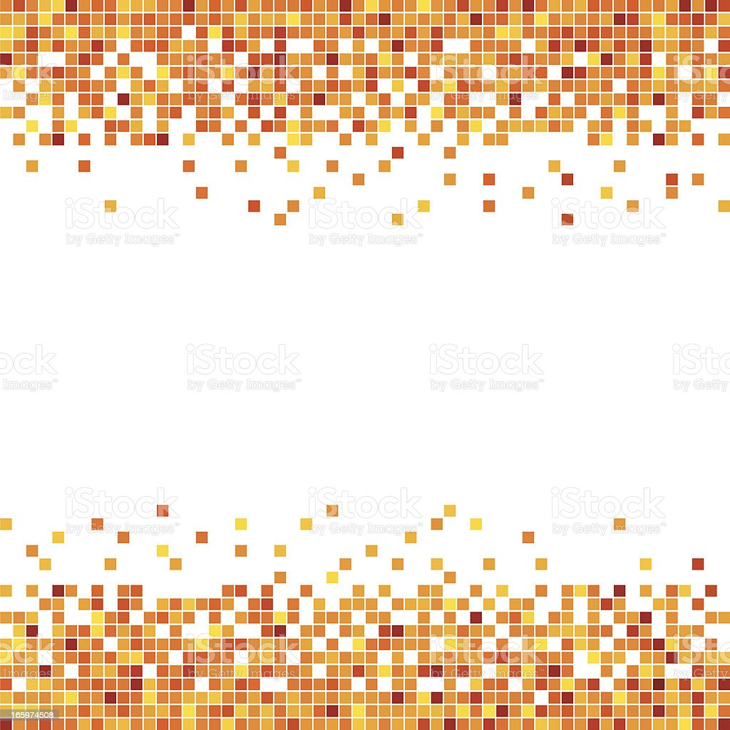 Pixel in Orange royalty-free stock vector art