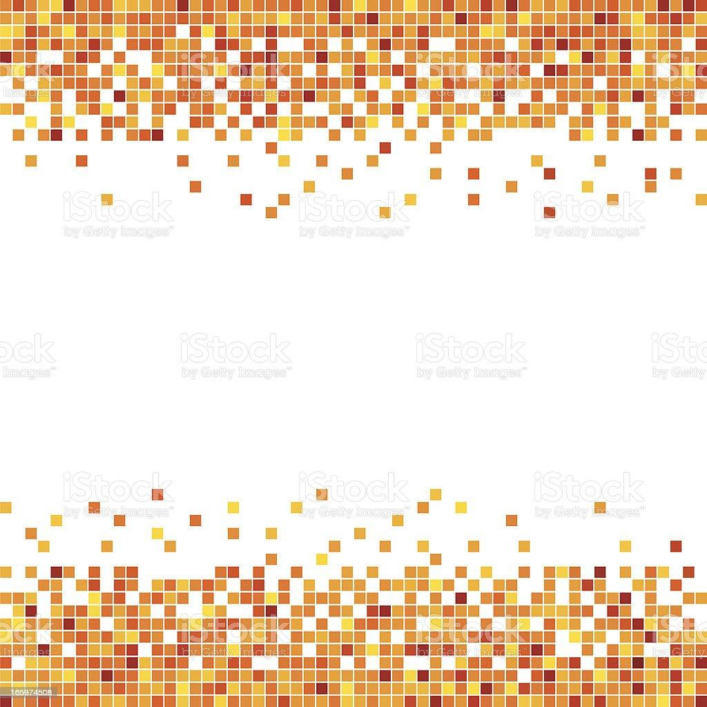 Pixel in Orange vector art illustration