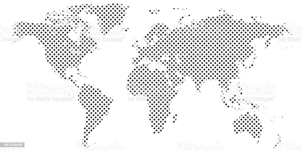 Pixel map of world dotted world map halftone horizontal banner stock pixel map of world dotted world map halftone horizontal banner royalty free pixel map gumiabroncs Images
