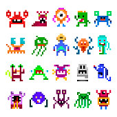 Pixel monster set