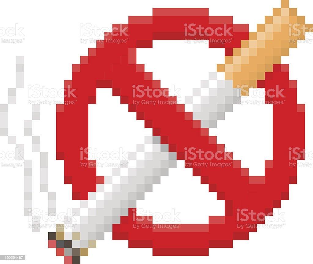 Pixel Interdiction De Fumer Cliparts Vectoriels Et Plus D Images