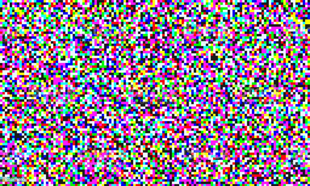TV pixel noise of analog channel grain screen seamless background. Vector glitch effect of video snow interference or abstract vaporwave background of color pixel mosaic distortion acid color glitch TV pixel noise of analog channel grain screen seamless background. Vector glitch effect of video snow interference or abstract vaporwave background of color pixel mosaic distortion acid color glitch Television Static stock vector