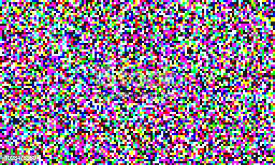 TV pixel noise of analog channel grain screen seamless background. Vector glitch effect of video snow interference or abstract vaporwave background of color pixel mosaic distortion acid color glitch
