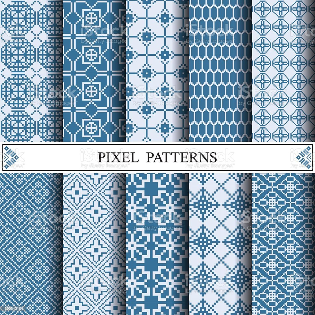 pixel pattern, textile, web page background, surface textures Lizenzfreies pixel pattern textile web page background surface textures stock vektor art und mehr bilder von abstrakt