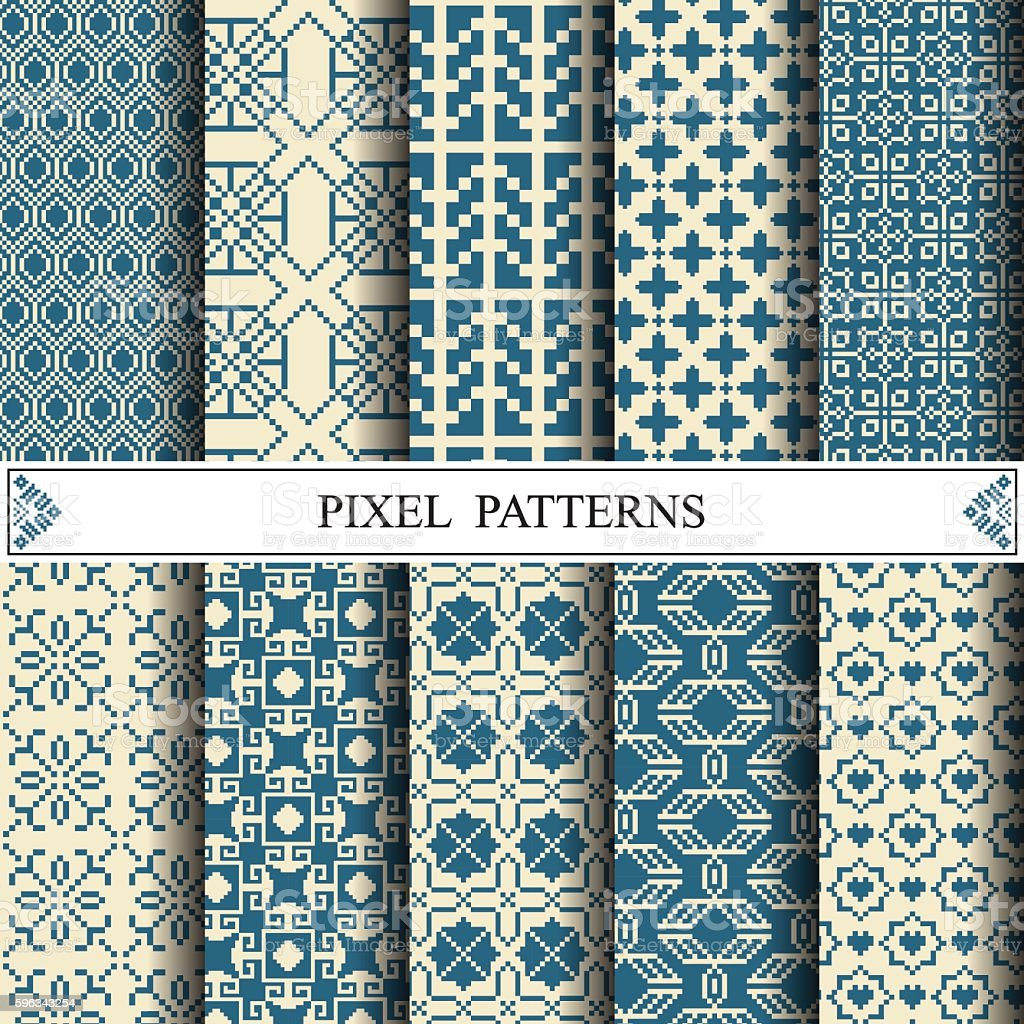 pixel pattern, textile, web page background, surface textures royalty-free pixel pattern textile web page background surface textures stock vector art & more images of abstract