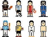 Pixel People Icons (Athlete)