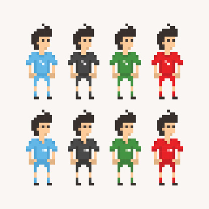 Pixel People - Soccer Players