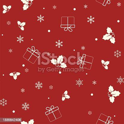 istock Pixel Perfect Seamless Christmas Pattern 1335842406