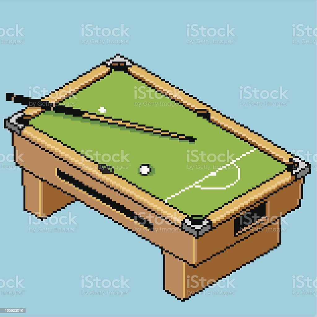 Pixel Pool Table royalty-free stock vector art