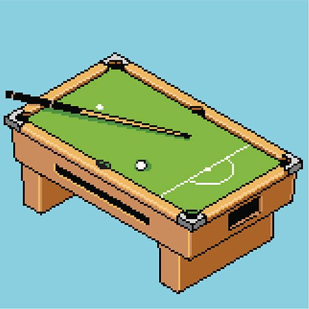Pixel Pool Table vector art illustration