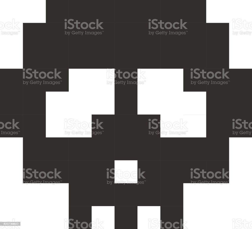 Pixel Schädel Pixel Kunst Cartoon Retrospielstil Stock Vektor Art ...