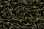 Pixel summer camouflage background. Vector illustration for your design.