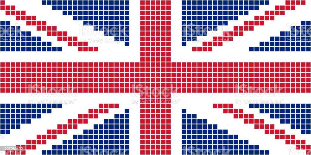 Drapeau Royaumeuni Pixel Vecteurs Libres De Droits Et Plus D