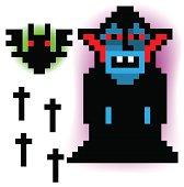 pixel vampire and bat