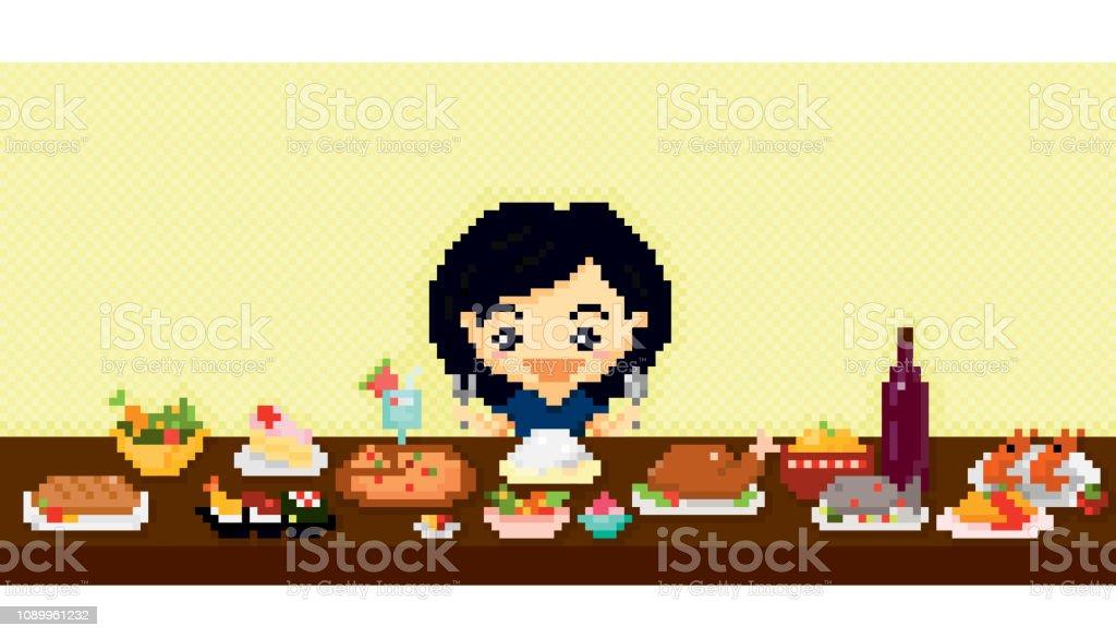 Pixel vector illustration.