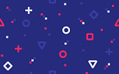 istock Pixel Video Game Abstract Seamless Background 1250539480