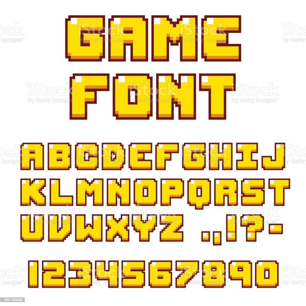 Pixel Videogame Font Stock Illustration