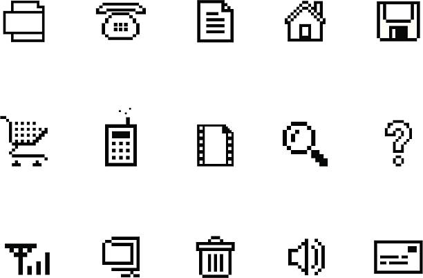 Pixel  Website & Internet Icon Set http://www.yiyinglu.com/istockphoto/images/buttons/red_delight.gif pixelated stock illustrations