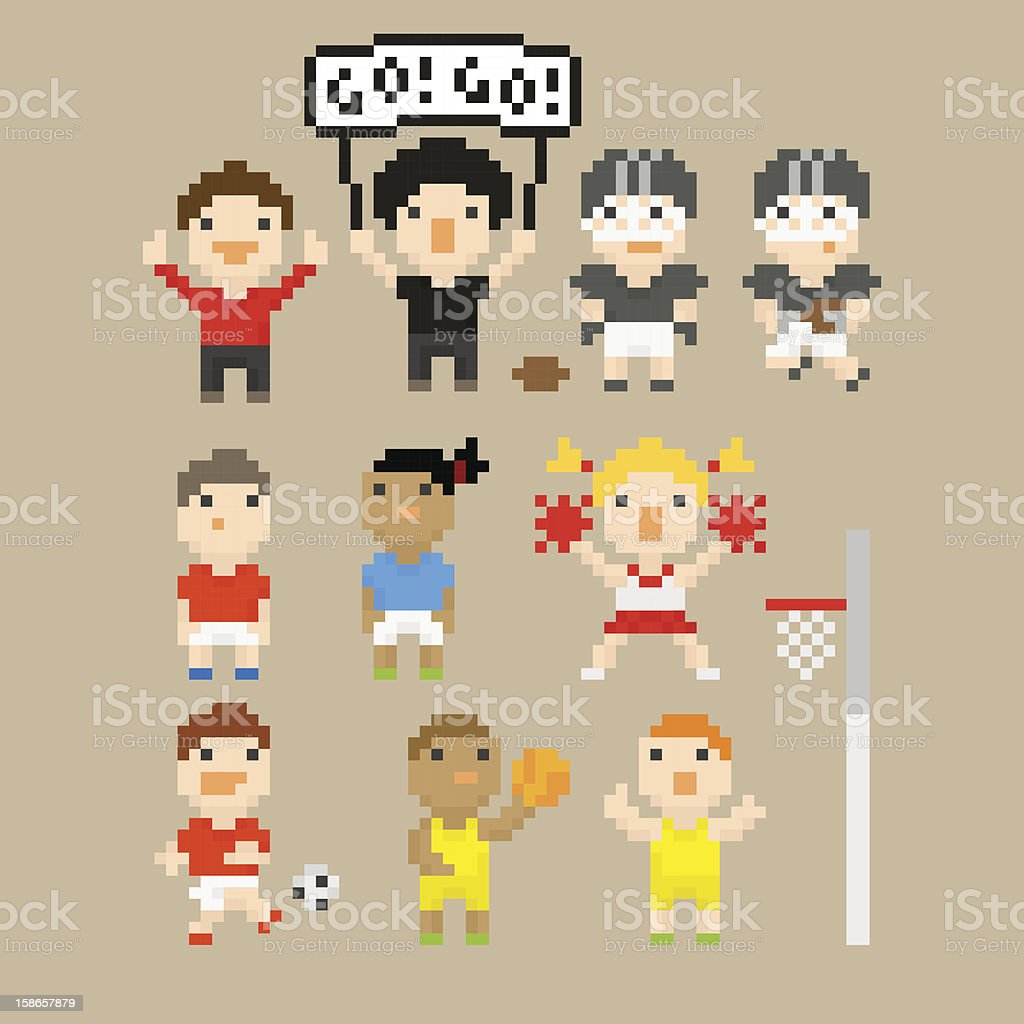 PixelArt sports vector art illustration