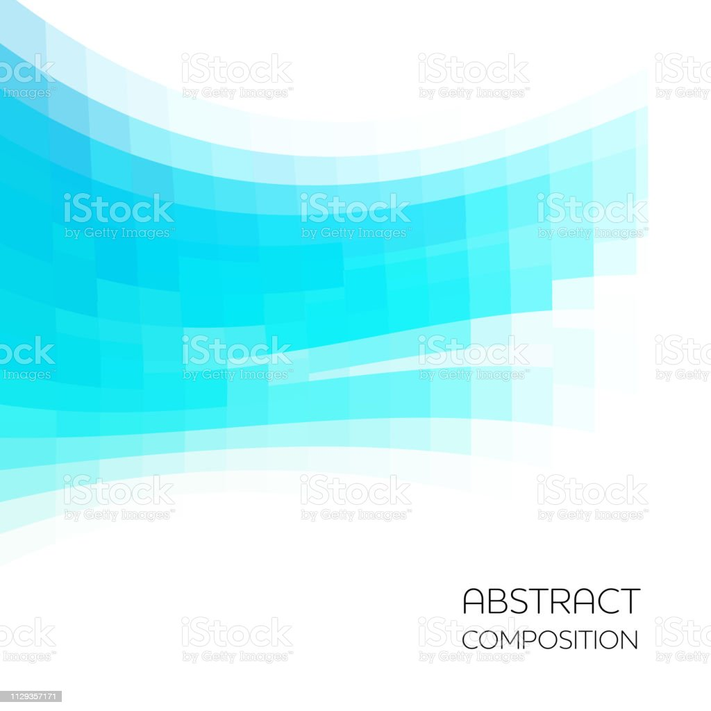 Pixelated abstract background vector art illustration