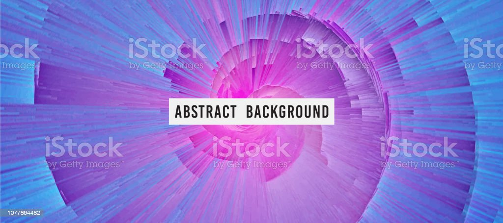 Pixelated And Cracked Purple Whirling Vortex Surreal Background