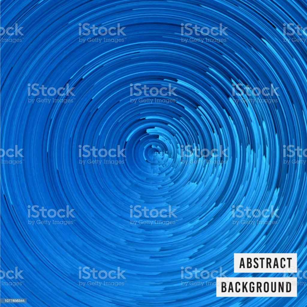 Pixelated Blue Whirling Wave Surreal Background Stock Vector Art & More  Images of Abstract