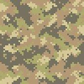 Pixelated camouflage. Seamless pattern. Easy to change color