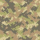 Pixelated camouflage seamless