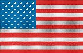 USA Pixelated Vector Flag