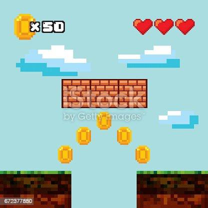 istock pixelated video game icons 672377880