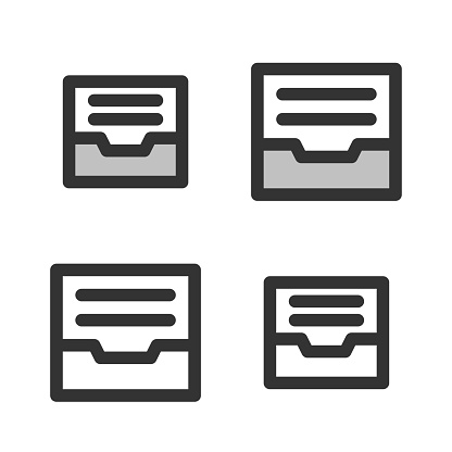 Pixel-perfect  linear  icon of an archive
