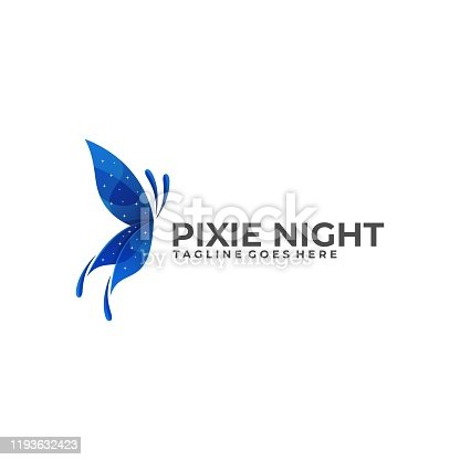 Pixie Night Illustration Vector Template. Suitable for Creative Industry, Multimedia, entertainment, Educations, Shop, and any related business.