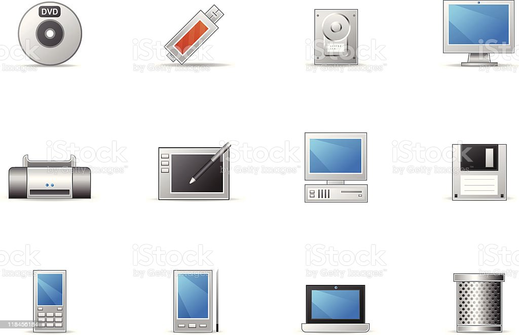 Pixio set - Computer and Device royalty-free stock vector art