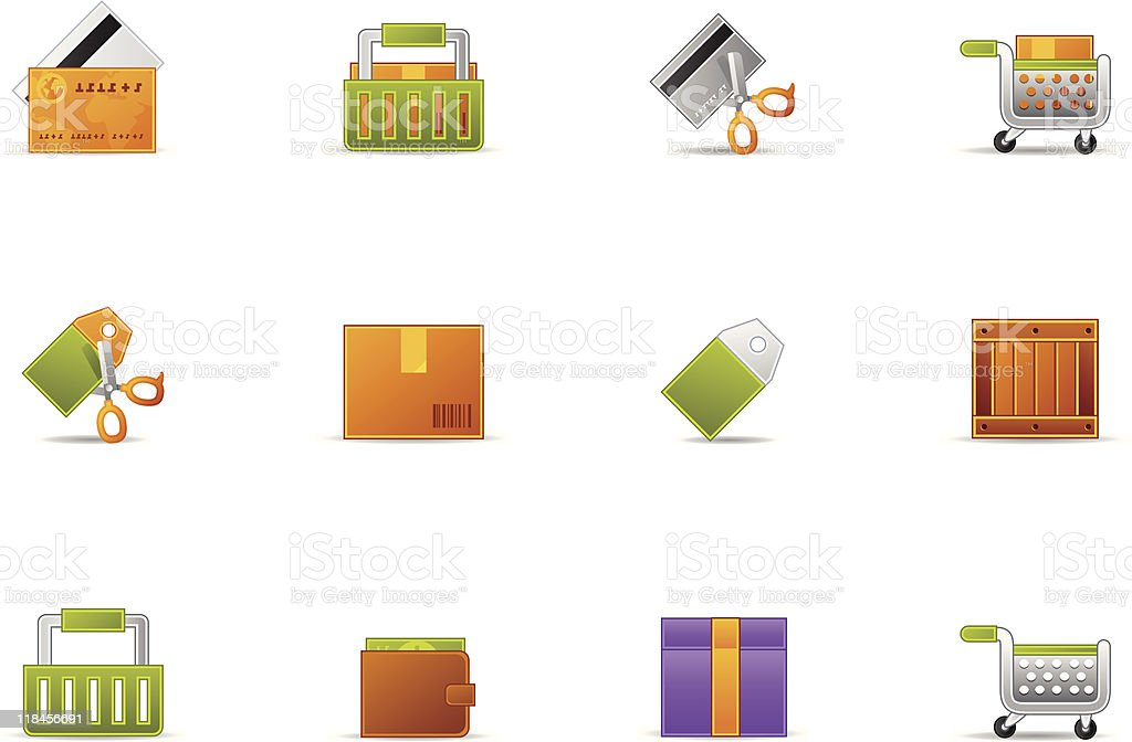 Pixio set - Ecommerce icon royalty-free pixio set ecommerce icon stock vector art & more images of bag