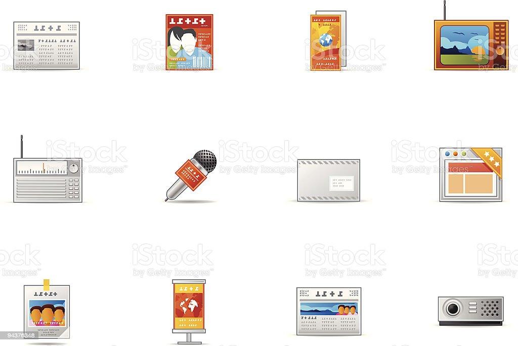 Pixio set #18 - Mass Media icons royalty-free stock vector art