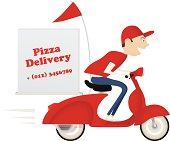 Pizza advertisement for delivery service