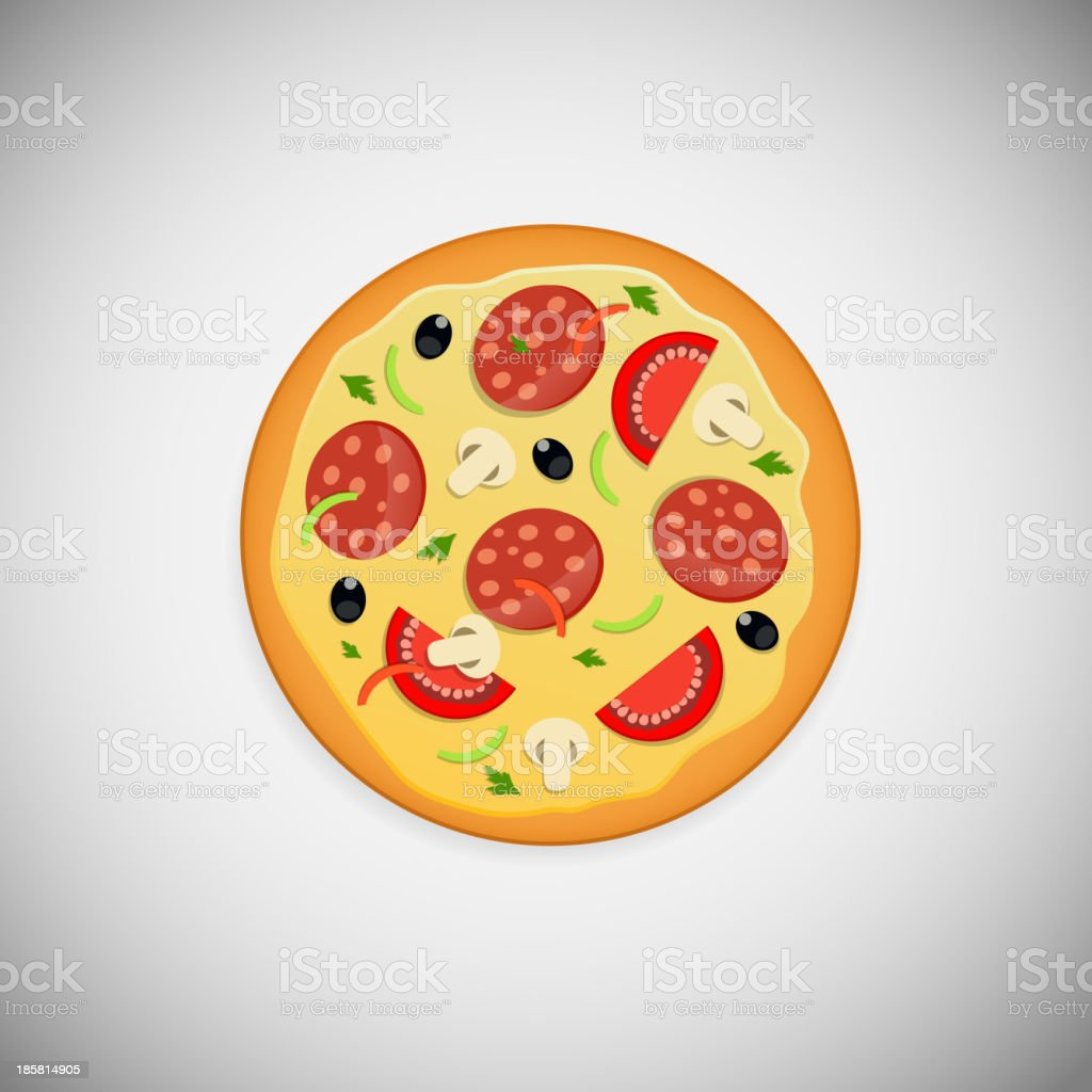 Pizza application icons vector illustration royalty-free stock vector art