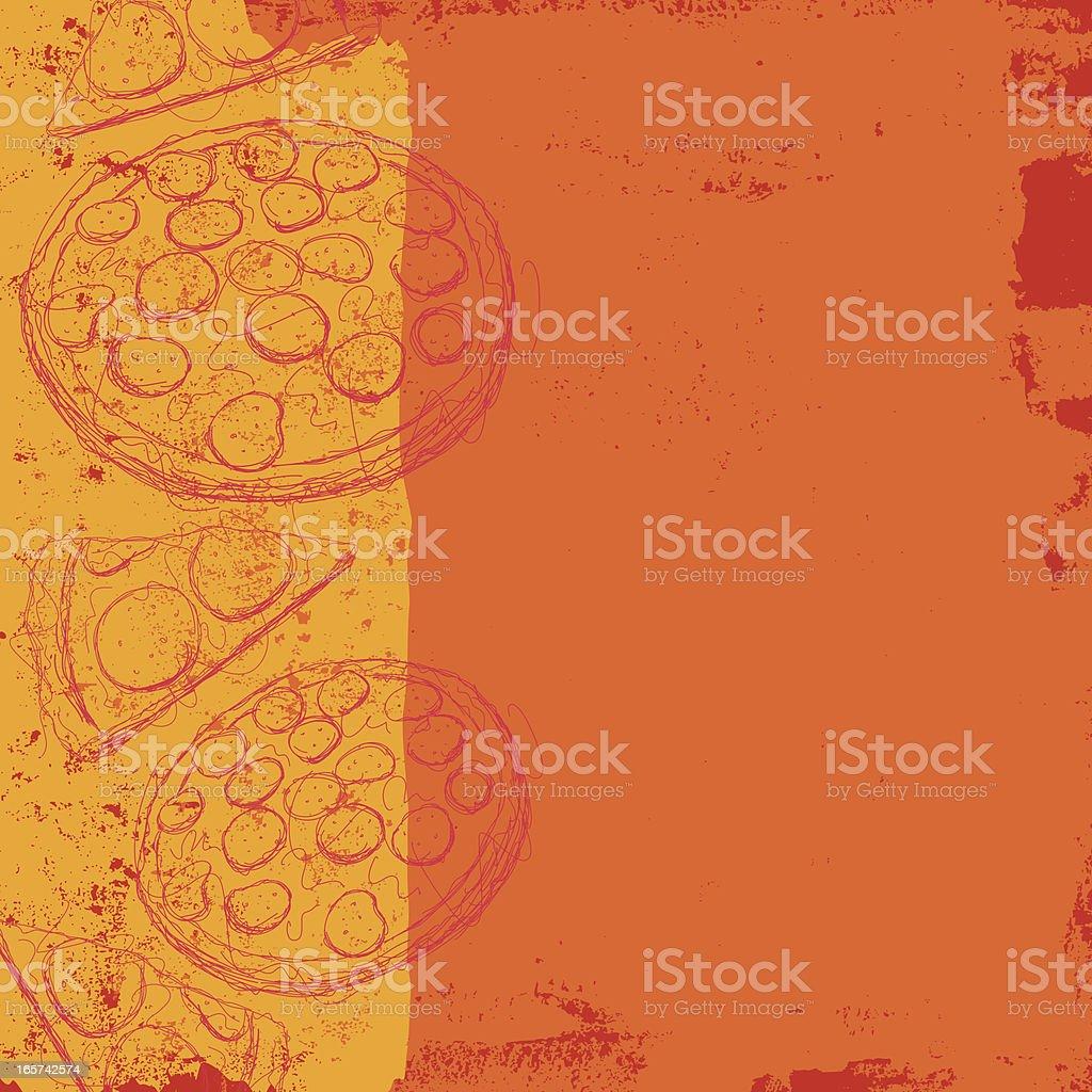 pizza background vector art illustration